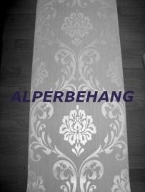 grijs parelmoer barok vlies trendy behang 144