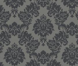 zwart grijs barok behang 440522