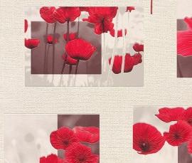 klaprozen bloemen behang 853308