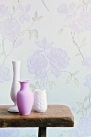 BN Wallcoverings Glamorous 46760 bloemen vlies , wit roze