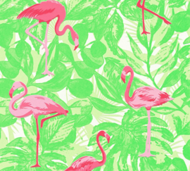 Flamingo behang 35980-2