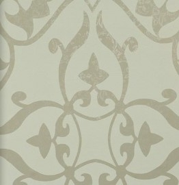 BN Wallcoverings Glamorous 46733 barok vlies off-white, taupe
