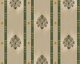 klassiek behang hermitage groen goud 8873-13