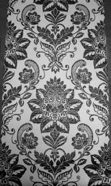 zwart wit barok behang 162