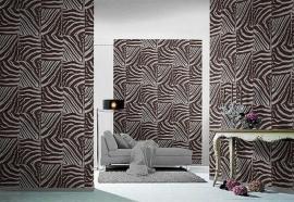 bruin wit beige zebraprint dieren print vlies behang xxx26