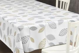 150-087 grijs bladeren tafelzeil