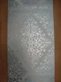 barok behang zilver wit  6837-0