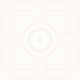 Ornamenten behang  wit zilver de luxe 70275