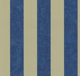 Strepen blauw goud behang carat 13346-60