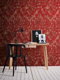 klassiek barok behang rood goed xx54
