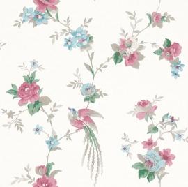 Rasch Sophie Charlotte 440607 bloemen paradijsvogel vliesbehang