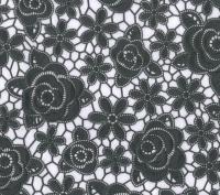 kant tafelzeil tafelkleed antraciet bloemetjes  ptx12