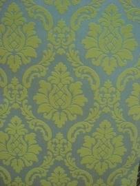 barok 3d behang vinyl limegroen x115