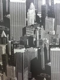 11100809 zwart grijs gebouwen behang