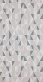 Retro behang grijs blauw 218994