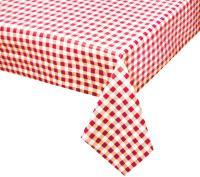 rood wit geblokt tafelzeil 156701