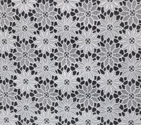 kant tafelloper tafelzeil wit bloemetjes  ptx28