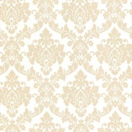 Barok behang wit goud glitter 13701-50