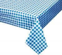 blauw wit geblokt ruiten tafelzeil 156702