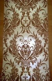 barok behang vinyl  bruin creme 08