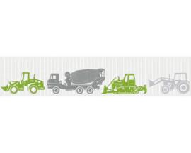 Behangrand graafmachines tractoren betonmixers esprit 357081