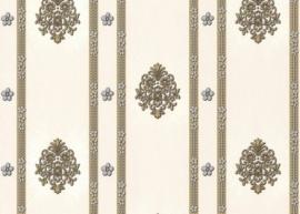 creme grijs bloemen klassiek hermitage behang 887337
