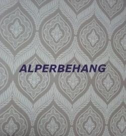 beige zand barok vinyl behang 6842-0