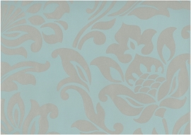 royal dutch 4 30249 blauw grijs bloemen behang