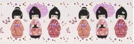 Rasch Kids Club 231939 Behangrand Geisha paars roze