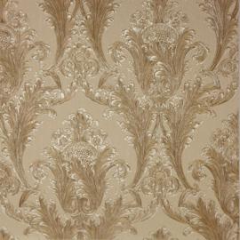 Arthouse Vintage Figaro Italian Damask Pattern Textured Glitter Vinyl Wallpaper (Cream 291201)
