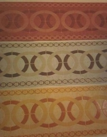 retro behangrand rood bruin oranje glinster 63