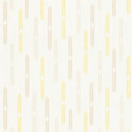 Geel grijs retro behang as creation 35119-3