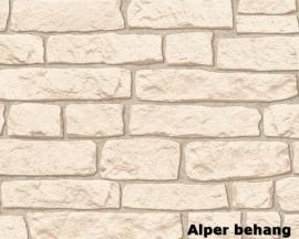 911537 beige zalm steenstrips steen behang