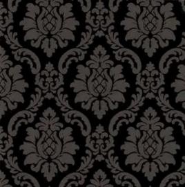 zwart barok glitter behang xx63