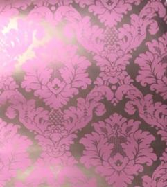 barok behang roze damask xxxx55