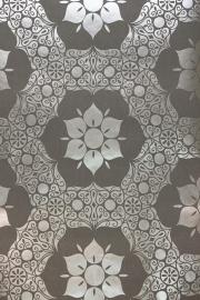 barok behang vinyl grijs zilver 120