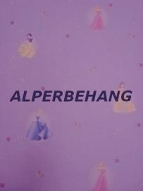 Disney kinder behang paars met prinses  x514