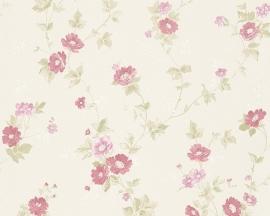 Behang Bloemen crème roze AS Romantica 30428-1