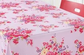 150-025 roze paars bloemen tafelzeil