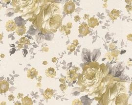 Behang Bloemen wit bruin AS Romantica 30427-3