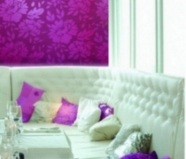 modern bloemen fuchsia roze vlies behang  95