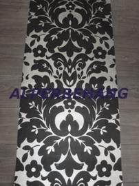 zwart zilver barok 3d vinyl behang 99