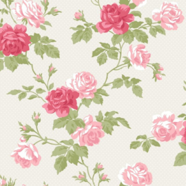 WhiteWell Boutique 550331 Roses Motif Antique Pink