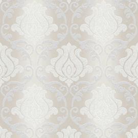 Barok behang zilver glitter 34860-2