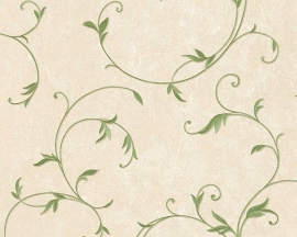 Behang planten beige groene AS Romantica 30418-3