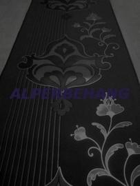barok vlies behang zwart zilver x432