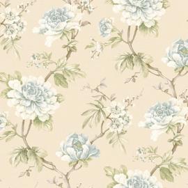 Blauw bloemen behang wallpaper 256122
