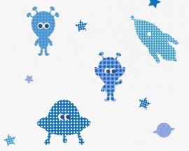 AS Creation Esprit Kids 3 space behang blauw 94124-2