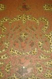 terra bruin goud luipaardprint voel als een leer dieren print behang 79