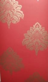 rood goud barok behang  0012